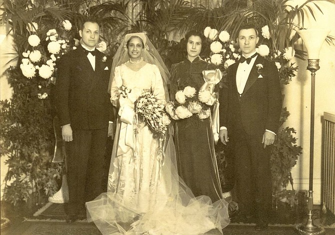Dr. West's Wedding Day: Oct. 31, 1936. He married La Verne Gregory, who was a Latin teacher at Dunbar High School.