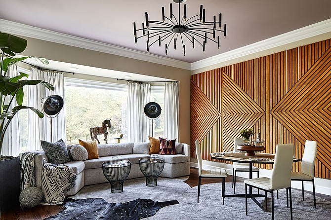 "Alexandria-based designer Quintece Hill-Mattauszek designed this ""Boys Club"" space using vintage finds."