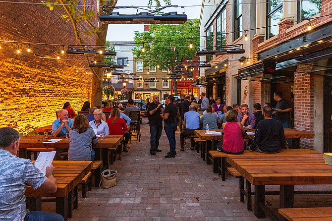 Augie's outdoor patio, which is dog-friendly, is destined to be a popular dining and drinking space even when the temperatures dip.