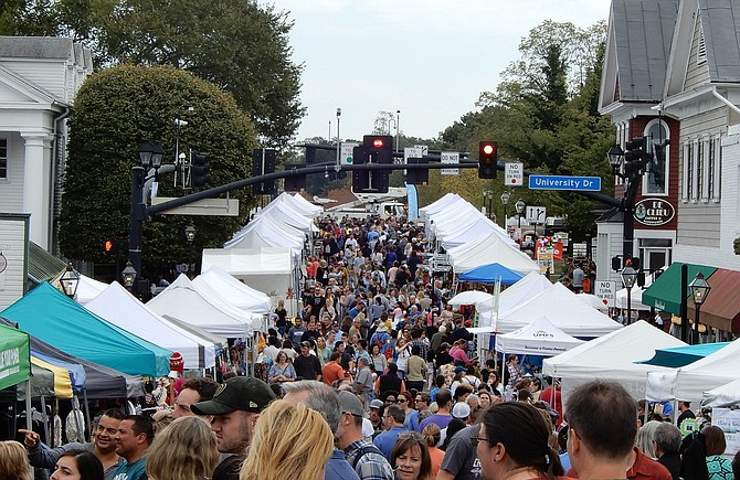 An estimated 30,000 people attended the 43rd annual Fairfax Fall Festival.