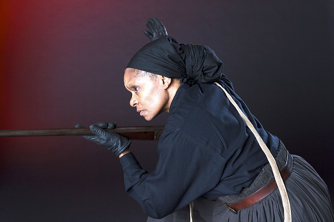 Janice Curtis Greene as Harriet Tubman. Greene will speak as Tubman at 7 p.m. Thursday, Oct. 24 at Potomac Community Center. The free program is sponsored by Potomac Community Village and is open to all.