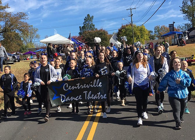 Centreville Dance Theatre marching in the parade.
