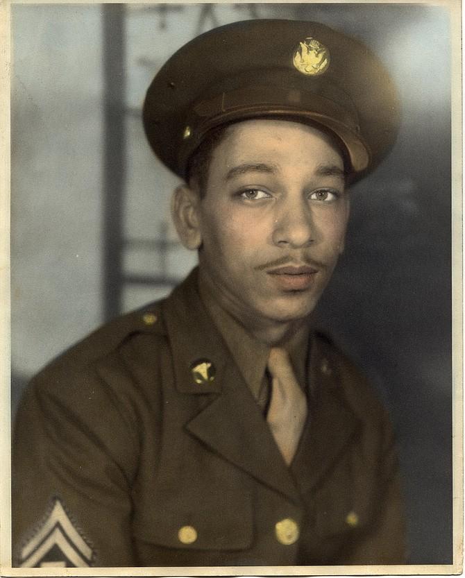Sergeant Paul Nevell Carter in uniform.