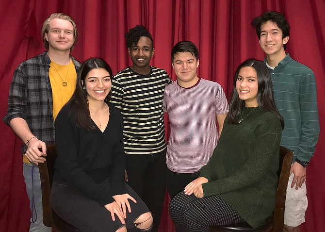"Performing in ""Almost, Maine"" and ""Love/Sick"" are (from left) Cullen Kendrick, Jenna Antonacci, Amro Ibrahim, Shaun Trinh, Elise McCue and Alex Yee."