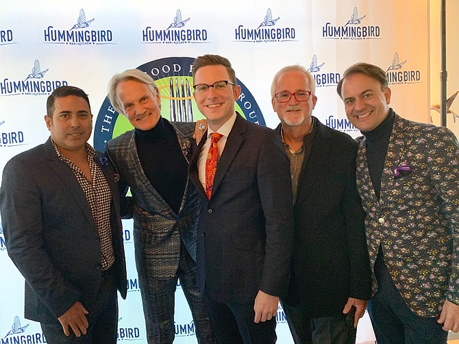 "TLC celebrity Monte Durham, second from left, poses for a photo with Nelson Gonzalez, Rob Warchal, Jack Evans and Dan Via at the BB&T Bank LGBTQ Business Resource Group's ""Say Yes to the Trends"" event Oct. 17 at Hummingbird Restaurant."