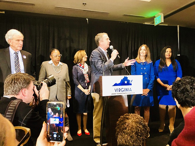 "Republicans haven't won a statewide victory since 2009, and now that Democrats have seized control of the House of Delegates and state Senate, Gov. Ralph Northam declared Virginia ""officially blue"" at a raucous victory party in Richmond Tuesday night."