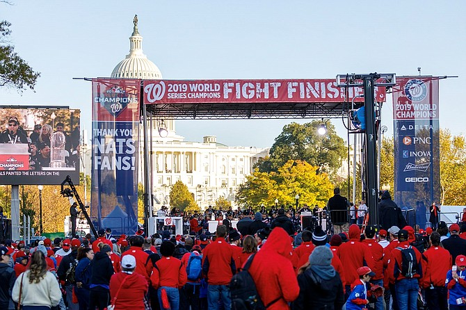 The Washington Nationals World Series parade culminated with a rally on the National Mall.
