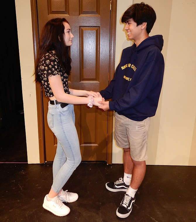 "Abbie Bailey and Ethan Welch are the love interests in Centreville High's upcoming play, ""You Can't Take It with You."""