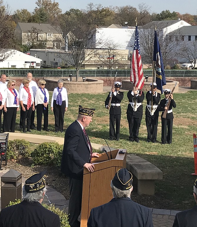 Members of the Reston Chorale prepare to lend their voices to the Town of Herndon and American Legion Wayne M. Kidwell Post 184 Herndon-Reston's Veterans Day Ceremony.