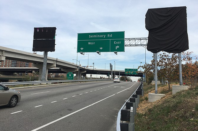 I-395 Express Lanes signs still under wraps.