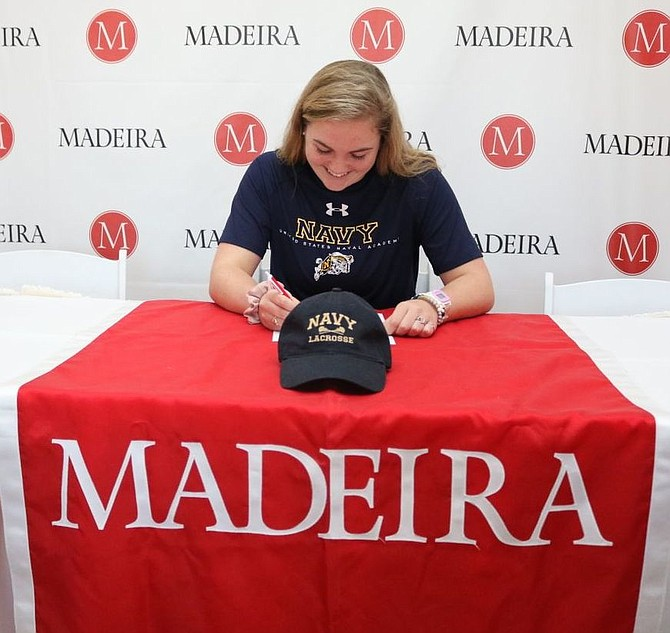 Annie Newton, a resident of McLean, will join the Women's Lacrosse team for the United States Naval Academy.