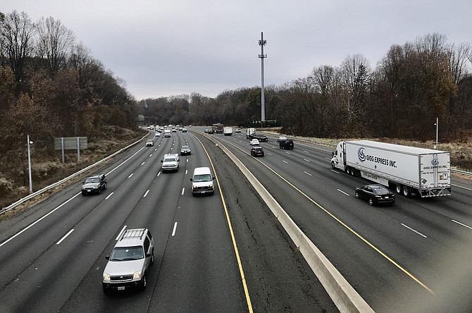 Imagine this: Four more lanes, two in each direction, here on the Beltway just on the Maryland side of the American Legion Bridge.