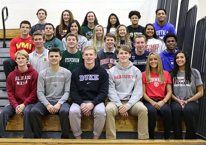 These 23 student-athletes will continue their academic and athletic careers at the next level.