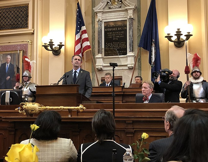Governor Ralph Northam at Joint session State of the Commonwealth Speech – January 2019.