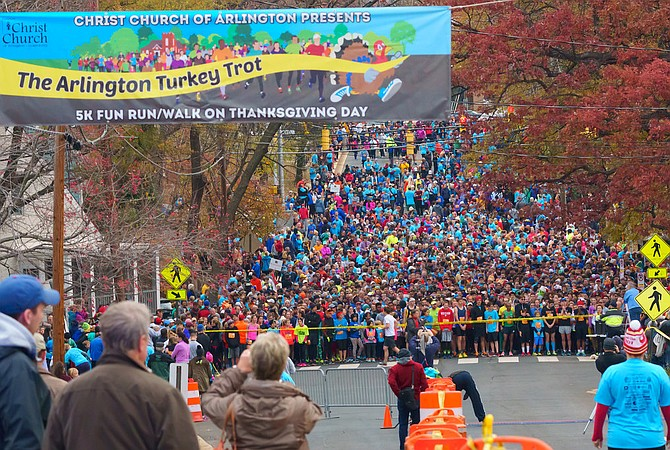Mimi and Rob Mortimer will be among thousands of runners at the 14th annual Arlington Turkey Trot.