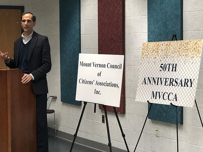 Mount Vernon Supervisor Dan Storck praised the MVCCA achievements over the last 50 years.
