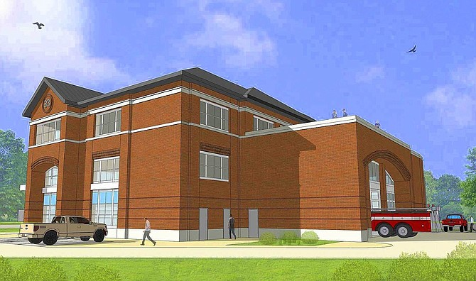 Artist's rendition of the new, state-of-the-art Fire Station 33.