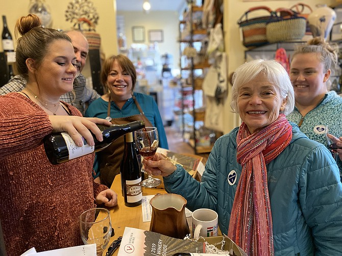 Small Business Saturday draws a steady stream of patrons to Chesapeake Chocolates, a small business located on Lake Anne.
