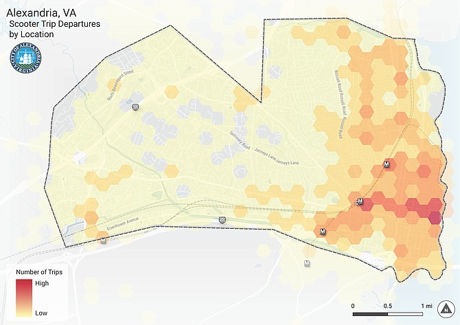 Responding to concerns that the vast majority of scooter availability is in Old Town, the City Council is considering a proposal to require scooter companies to deploy 10 percent of all scooters west of Quaker Lane and another 10 percent west of Interstate 395.