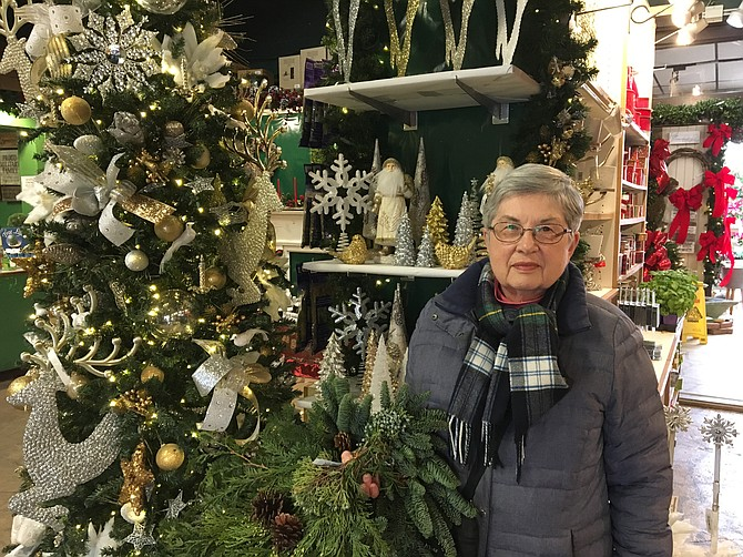 Nancy Richards was shopping in Holly, Woods and Vines on Small Business Saturday for holiday decorations.