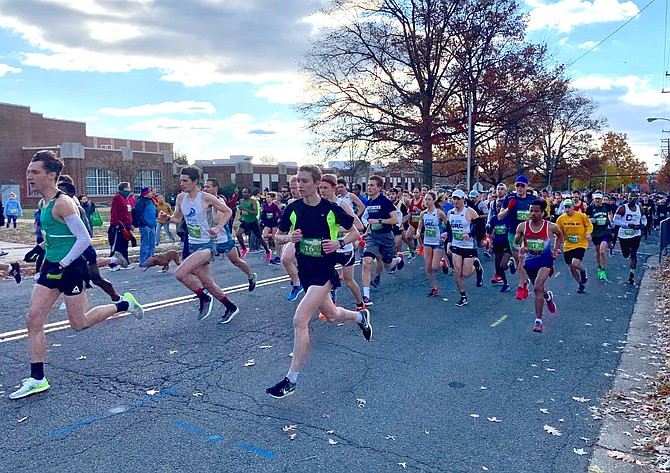 Runners take to the course of the 44th annual Alexandria Turkey Trot Nov. 28 in Del Ray.