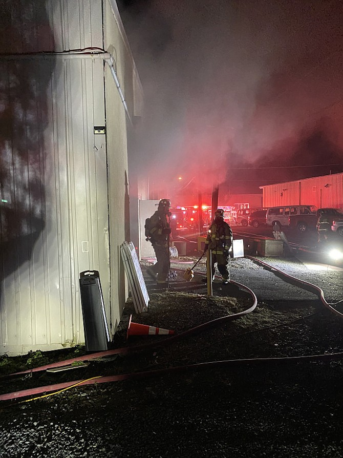 The fire was caused by an electrical event in a hot/cold water cooler.