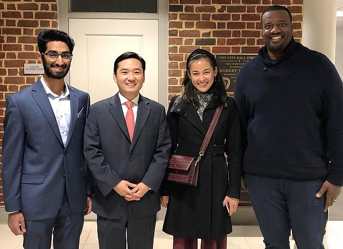From left: Aashray Manchanda, Sang Yi, Lauren Anderson and Derrick Dockery.