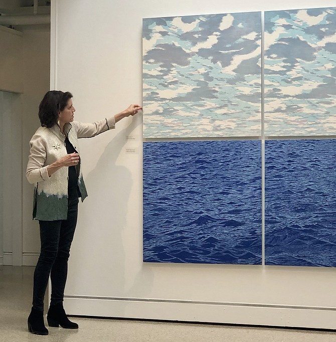 Artist Eve Stockton explains how this ocean series was created years apart from one another. The top and bottom pieces were entirely different projects.