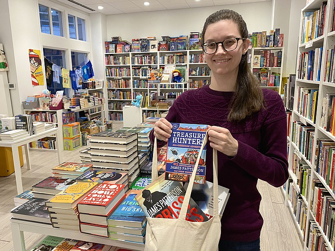 Emma Baum, bookseller at Scrawl Books in Reston Town Center, is the recipient of best-selling author James Patterson's 2019 Holiday Bookstore Bonus Program. Patterson pledged a personal contribution of $250,000 to independent bookstore employees, granted in amounts of $500 to 500 individual booksellers.