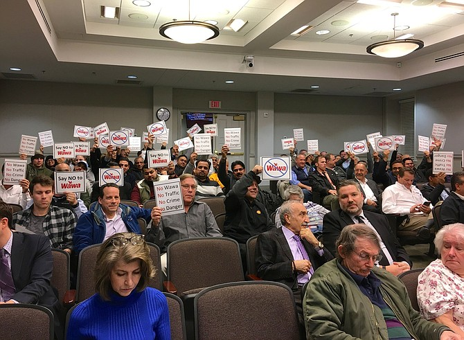 Opponents of the proposed WAWA gas station turned out en masse Tuesday night at Fairfax City's Council meeting.
