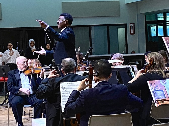 The Reston Community Orchestra, under the direction of Dingwall Fleary, Music Director, combines the traditions of African American culture with western classical music, paying tribute to Dr. King's vision of a society free of prejudice and racial divisions.