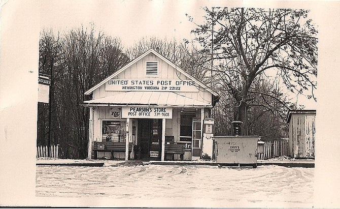 Pearson's Store was across the tracks from the station. This picture was taken in 1977.
