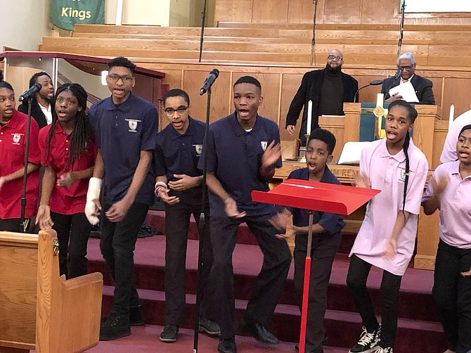 First AME church Youth Choir.