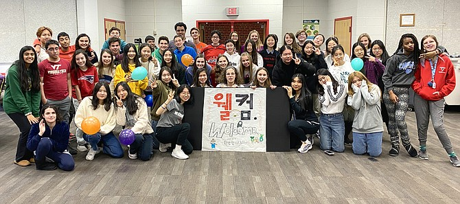 A group of 19 foreign exchange students from Korea visited Madison High School at the end of January.