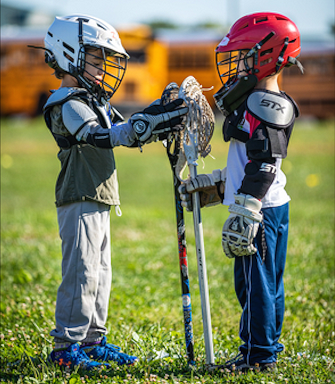 About 40-50 boy players and 30-40 girl players of all ages participated in Herndon Reston Youth Lacrosse Fall Ball program.