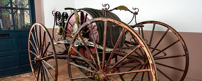 A send-off reception for the 1858 Prettyman Hose Carriage will be held Feb. 1 at 12:30 p.m. at the Friendship Firehouse Museum prior to its removal for conservation and restoration work.
