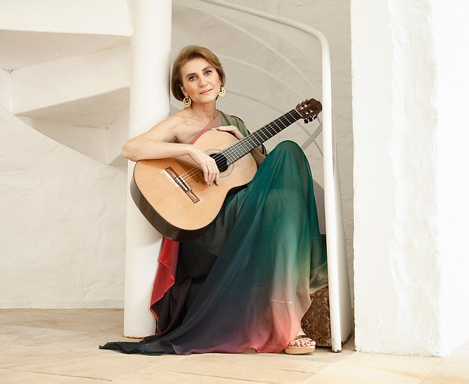 Classical guitarist Berta Rojas will perform Feb. 15 and 16 with the Alexandria Symphony Orchestra.
