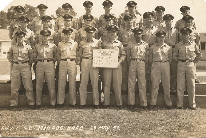 Clifton D. Wanzer with his 1952 Air Force Class.