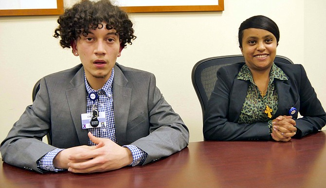 Charles Rivas and Edilawit Teklehaimanot, interns in Urban Alliance-Inova partnership.