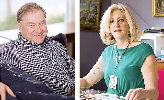 "The Alexandria Sportsman's Club will host co-authors David Elfin and Andrea Chamblee on Feb. 19. The two completed ""The Capital of Basketball"" on behalf of Chamblee's late husband, slain Capital Gazette sportswriter John McNamara."