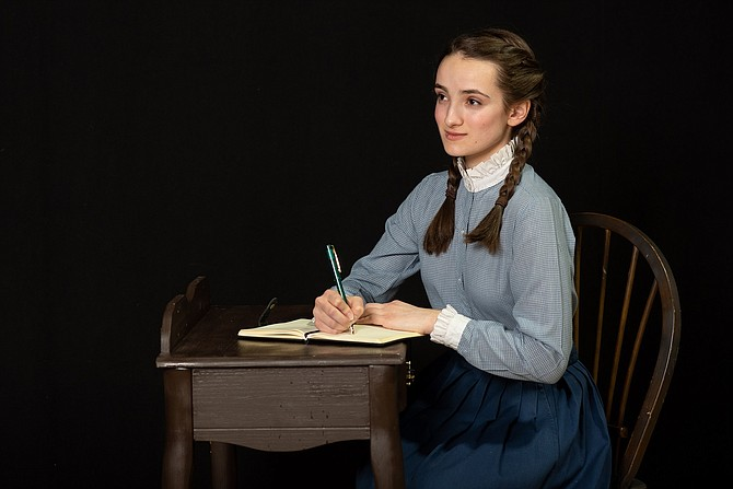 "Sophia Mancione as Anne Frank in Reston Community Players' production of ""The Diary of Anne Frank."""