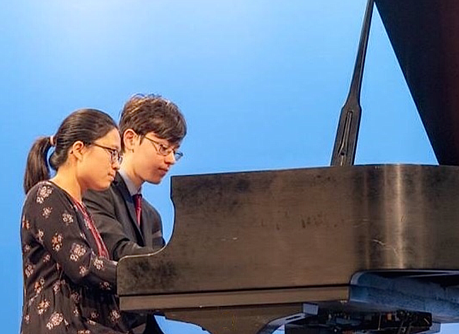 Jialin Tso and Alexander Suh, who will perform on NPR's 'From the Top' at Center for the Arts, George Mason University.