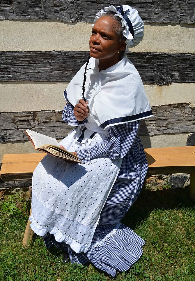 Storyteller Janice Curtis Greene is speaking as poet Phillis Wheatley, Saturday at the Potomac Library at 1 p.m.