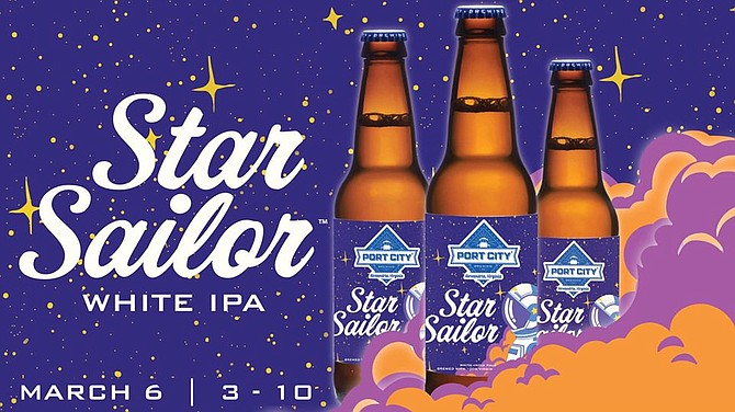 Star Sailor White IPA Release at Port City Brewing, March 6.