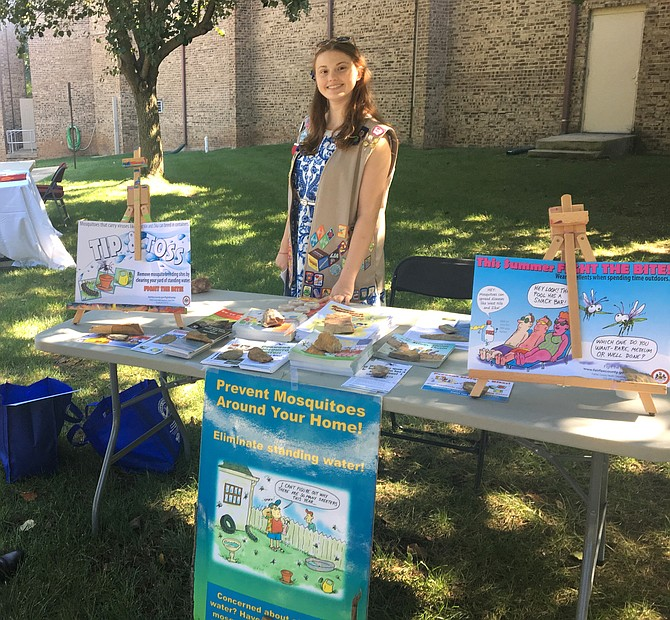 Julia Cartwright's Mosquito Vector Control Presentation and distribution of educational material, Aug. 25, 2019.