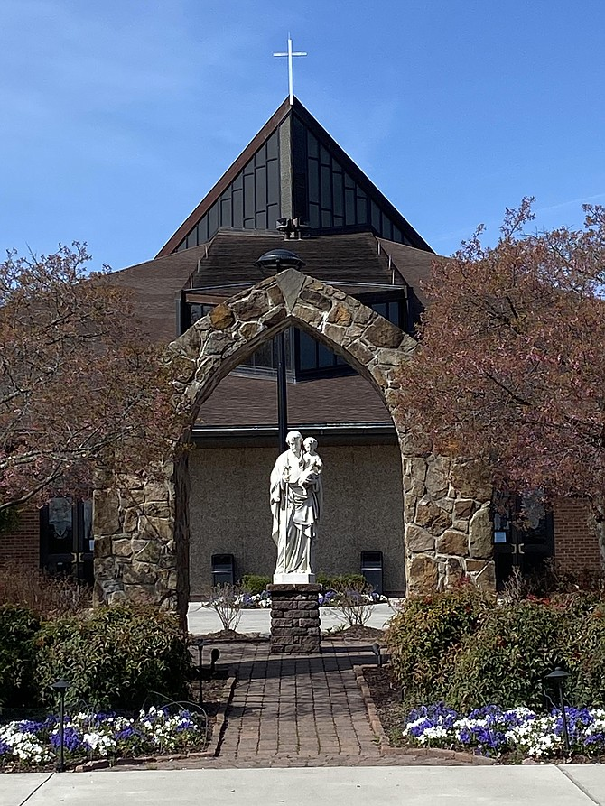 St. Joseph Catholic Church, Herndon: The church is open, but visitors must limit the number of persons in the church to 10 or fewer at any time.