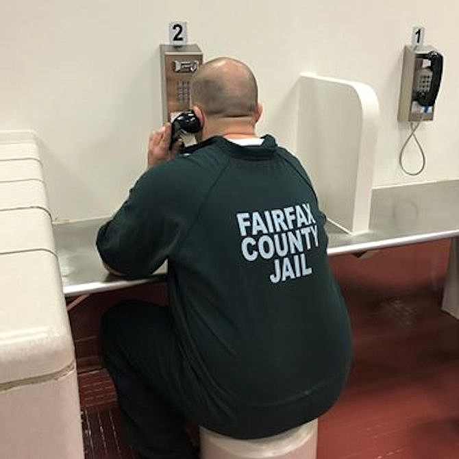Effective March 18, personal visiting with inmates at the Adult Detention Center and Alternative Incarceration Branch was suspended to help prevent the spread of [COVID-19]. Instead, all inmates are given two free 15-minute phone calls per week.