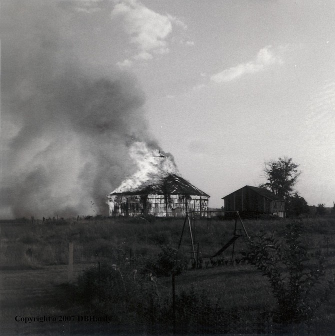 The Hayfield Barn burned in 1967.