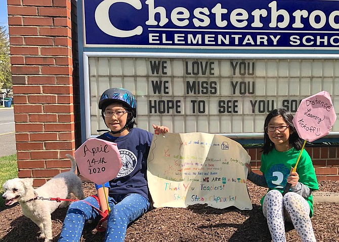 Students submitted photos in spirit gear to the staff of Chesterbrook Elementary School to spread love and support.