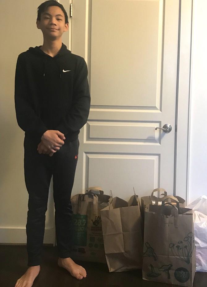 Paulus Faracon initiates neighborhood food drive.